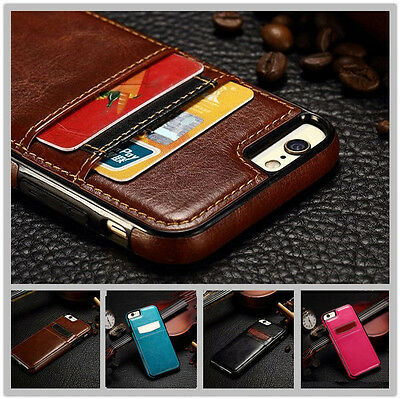 Luxury Leather Wallet Card Back Case Cover For iPhone 6 6S Plus new