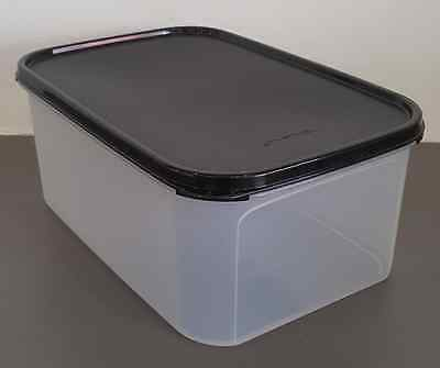 Tupperware Clear Storage Container Modular Mates #2 Rectangle Black Seal New