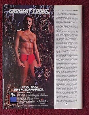1983 Print Ad Fruit of the Loom Great Looks Men's Underwear Briefs ~ Panther