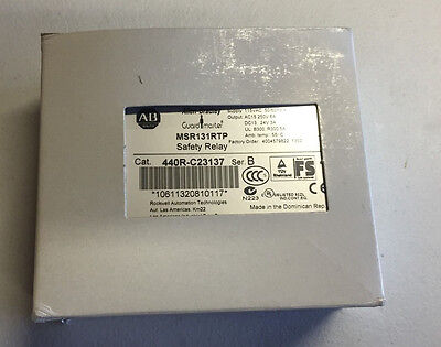 *New* Allen Bradley Guardmaster MSR131RTP Safety Relay 440R-C23137