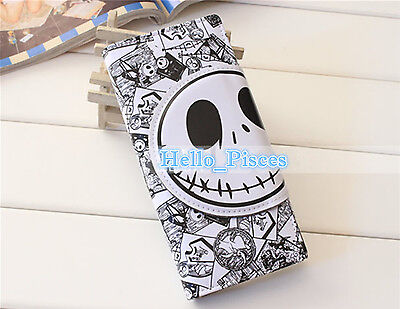 Disney The Nightmare Before Christmas Jack Face Bifold Wallet Skull Purse White