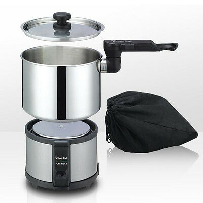 Magic Chef Electric Hot Pot Cordless Portable Travel Camping Free Volt MEK-1300S