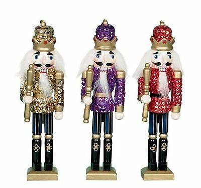 Xmas Christmas Hanging Traditional Style Nutcracker Wooden Tree Decoration 20Cm
