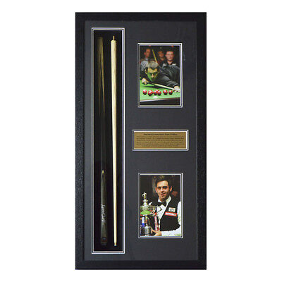 Hand Signed Ronnie O'Sullivan Snooker Cue Framed - World Champion - Portrait