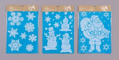 Reusable Window Decoration Cling Frosty Sticker Packs Christmas Xmas Decoration