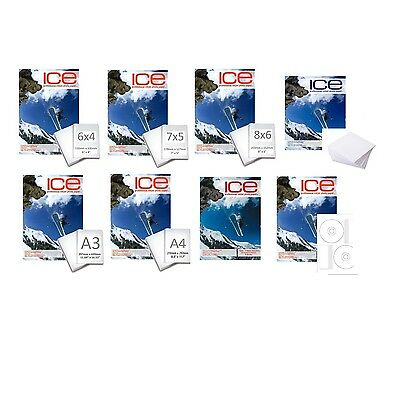 Ice Professional Inkjet Photo Paper - All Sizes And Finishes  - Choose Type
