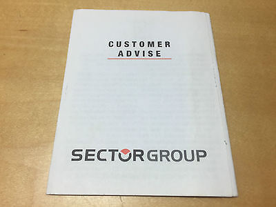 Used - Booklet Folleto SECTOR - Customer Advise - All languages - For Collectors