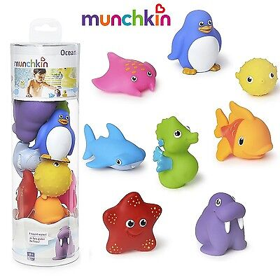 Munchkin Ocean Squirts Bath Toy, 8-pack For Ages 9 Months+ Babies, 18004 New