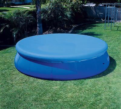 "Intex 12'x12"" Easy Set Pool Cover for 12' Round Inflatable Ring pools"