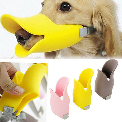 Aduck Mask-Funny Cute Soft Cozy Silicone Duckbill Adjustable Cage Muzzle for Dog