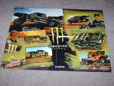 Trophy Trucks 2 Sided Poster Robby Gordon Alan Pfuegler Excellent Condition