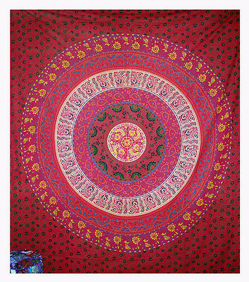Indian Wall Hanging Tapestry Mandala Hippie Tapestries Bohemian Twin Throw Sb173