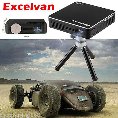 Excelvan Mini Proyector 1000:1 HDMI HD1080P LED Home Projector Multimedia Player