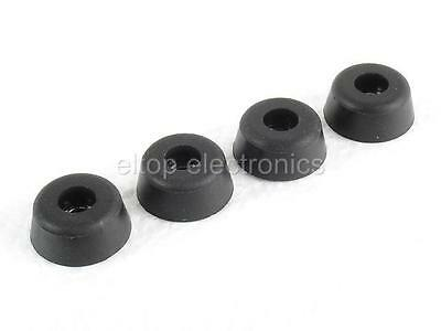 4x Round Cabinet Instrument Case Foot Circular Rubber Feet Bumpers Black RF09