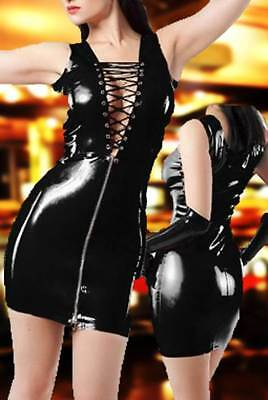 Sexy Wetlook Kleid Leder Look Domina Erotik Gogo Club Fetisch New @ buy.2