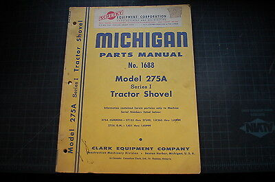 MICHIGAN 275A Front End Wheel Loader Parts Manual book spare list catalog shovel