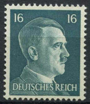 Germany Third Reich 1941-42 SG#780 16pf Bluish Green Adolf Hitler MNH #D5844