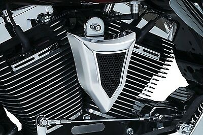 Kuryakyn Chrome Krusader Horn Cover Harley Big Twin Cam 95-16