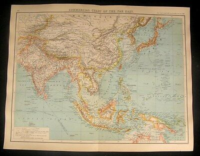 Commercial Chart Far East 1902 antique Global World Trade map submarine routes