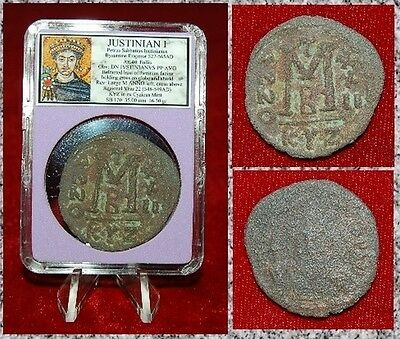 Ancient Byzantine Empire Coin Of Justinian I Cyzicus Mint Very Large Coin!