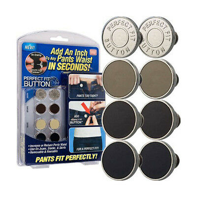 8 Perfect Fit Pants Button Instant Fix Metal Waist Extenders For Any Jeans Retro