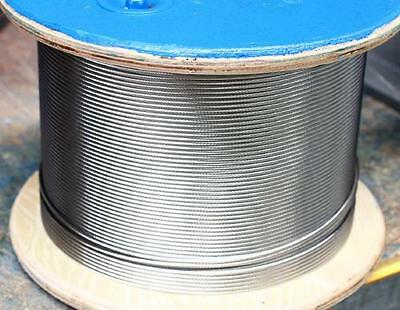 Wire Rope 4mm 7x19 AISI 316 305 Metre Roll