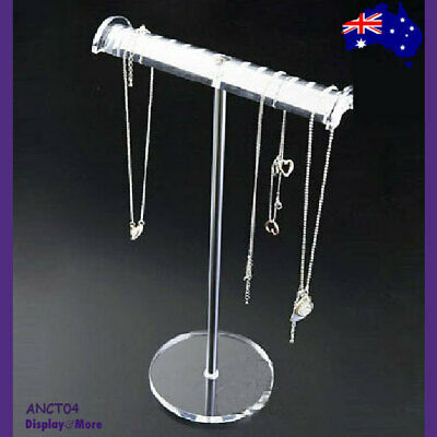 Necklace Stand CHAIN Holder Clear ACRYLIC | Stylish NEW Design | AUSSIE Seller