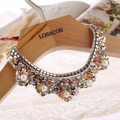 Fashion Gift For Women/Girl Sequin Pearl Collar False Collar Necklace Choker