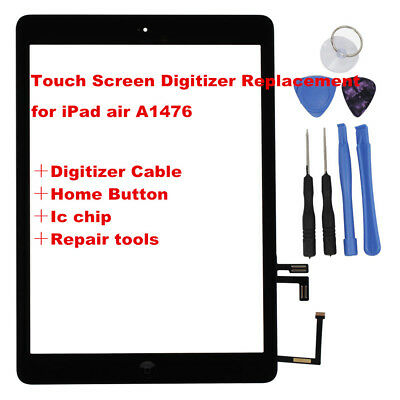 For White iPad Air A1474 Touch Screen Panel Glass Digitizer Lens Replacement OZ