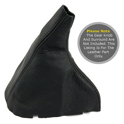 Fits Volvo V70 Or S70  1996-2007 Gear Gaiter Real Leaher Black Stitching