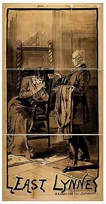 Photo Print Vintage Poster: Stage Theatre Flyer East Lynne 03