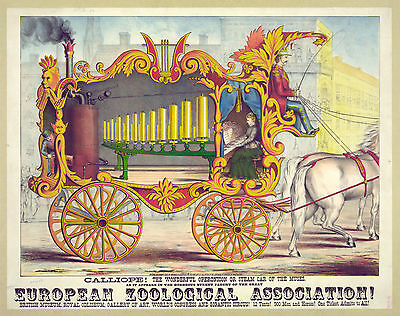 Photo Printed Old Poster Stage Theatre Calliope European Zoological Association