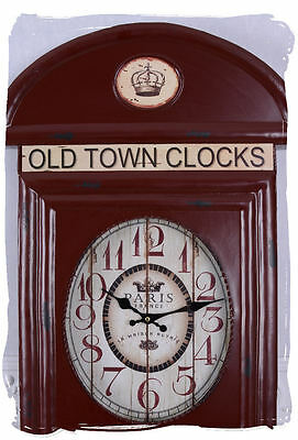 English Wall Clock London Watch Vintage Antique Style Metal Clock
