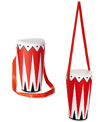Inflatable Drum With Neck Strap Blow Up Bongo Kids 34Cm