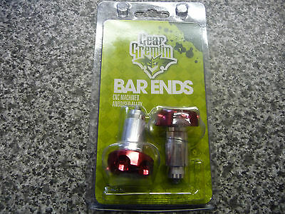 Gear Gremlin Red Annodised Alloy Motorcycle Barends
