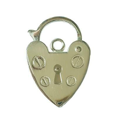 Sterling Silver 10mm Bracelet Heart Padlock Fastening - Perfect For Repairs