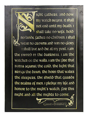 Game of Thrones Night's Watch Oath Canvas Banner