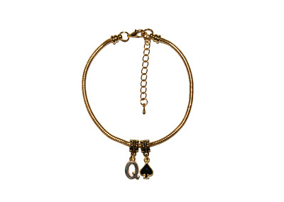 Hotwife Queen Of Spades Gold Euro Anklet Cuckold BBC Ankle Chain QOS Style 1