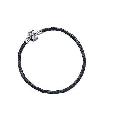 New Official Harry Potter Black Leather Bracelet for Charms