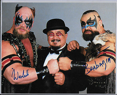 2015 Leaf Wrestling  8X10 Autographs Powers Of Pain Warlord & Barbarian Auto