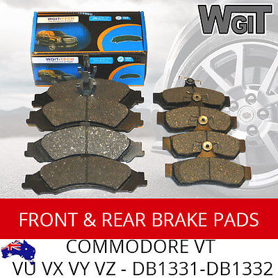 FRONT REAR BRAKE PADS Suit HOLDEN COMMODORE VT VU VX VY VZ 97-06
