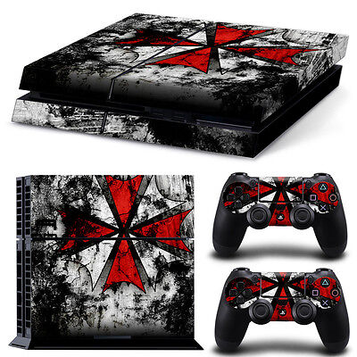 Game Decal Cover Skin Sticker For PS4 PlayStation Console 2 Controller