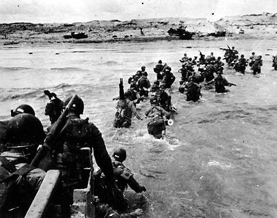 6x4 Gloss Photo wwE5B Normandy Invasion WW2 World War 2 933