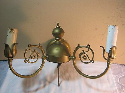 2 Candle Electric Wall  Lighting Fixture Old Vintage Antique Parts As is