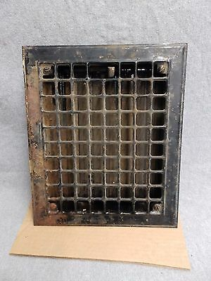 Vintage Stamped Steel Floor Heat Grate Register Vent Old Hardware 5207-15