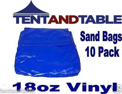 10 Pack Blue Sand Bag Covers for Anchoring your Tent & Inflatable Bounce House