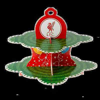 Liverpool FC  LFC Liverbird Crest Balloon 2 Tier Cake Stand Official