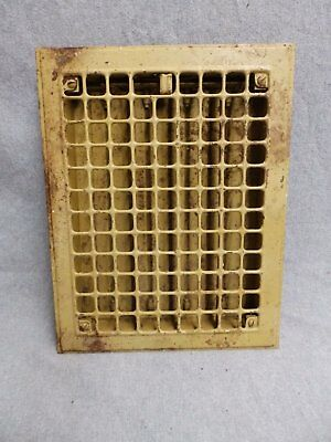 Vintage Stamped Steel Floor Heat Grate Register Vent Old Hardware 5215-15