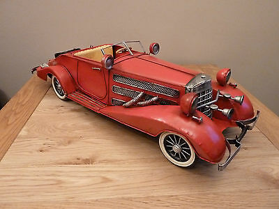 Mercedes Benz 500 / 540K Roadster. Very Large Tin Plate Model, Great Gift.