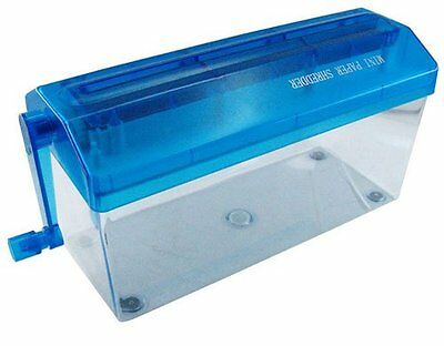 Portable Paper Shredder Office Straight Cut Mini A4 Manual Hand Paper Width 9""